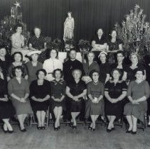 Image of Altrusa Women with Catholic Priest - Photograph Collection