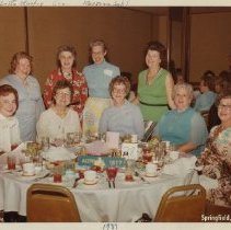 Image of Roberta Stookey and Marjorie Sohl with Altrusa Members - Photograph Collection