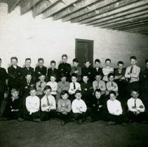 Image of Class in All Saints School Basement - Photograph Collection