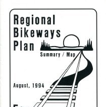Image of 1994 Regional Bikeways Plan booklet from the Planning Commission