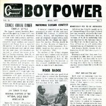 "Image of April 1975 ""Boy Power"" newsletter from the Boy Scouts of America"