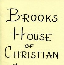 Image of Brooks House - Paper Artifacts Collection