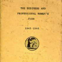 Image of 1945-1946 Business & Professional Women's club booklet