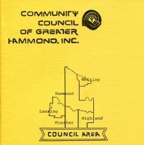 Image of Community Council of Greater Hammond - Paper Artifacts Collection
