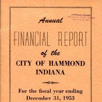 Image of Hammond's 1953 Annual Financial Report