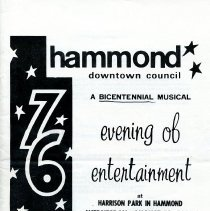 Image of Hammond American Bicentennial - Paper Artifacts Collection