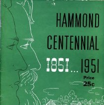 Image of Commemorative booklet from Hammond's 1951 Centennial celebrations