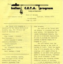 Image of First newsletter from Hammond's CETA program
