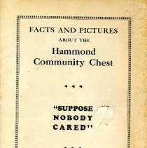 Image of 1925 informational brochure on Hammond's Community Chest