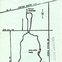 Image of Bailly Homestead Flyer Map