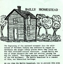 Image of Bailly Homestead (Porter Co.) - Paper Artifacts Collection