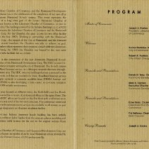 Image of Event program for the grand opening of the LSCoC building