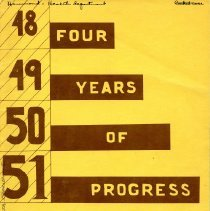 Image of 1948-1951 Hammond Health Department Booklet