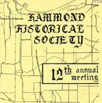 Image of Hammond Historical Society - Paper Artifacts Collection