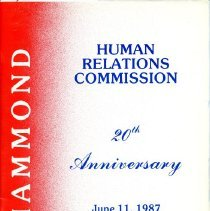 Image of Hammond Human Relations Commission - Paper Artifacts Collection