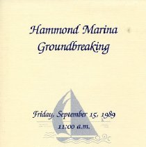 Image of Hammond Marina - Paper Artifacts Collection