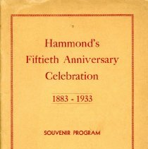 Image of Hammond's 50th Anniversary Celebration - Paper Artifacts Collection