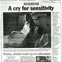 Image of Hammond Times Oct. 20, 1996 article clipping on Haven House