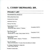 Image of Bernard, L. Cosby, Architect - Paper Artifacts Collection