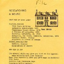Image of House Histories - Paper Artifacts Collection