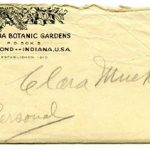 Image of Indiana Botanical Gardens - Paper Artifacts Collection