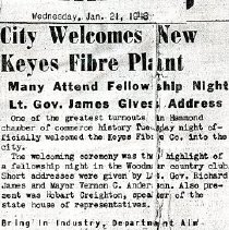 Image of Keyes Fibre Company - Paper Artifacts Collection