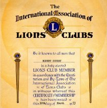 Image of Lions Club - Paper Artifacts Collection