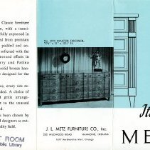 Image of Metz Furniture Company - Paper Artifacts Collection