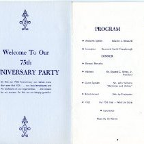 Image of E.C. Minas Company's 75th Anniversary Party program
