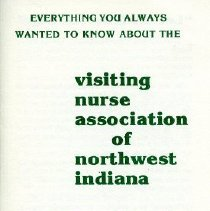 Image of Northwest Indiana Visiting Nurse Association - Paper Artifacts Collection