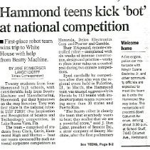 Image of Hammond Times article from April 13, 1997