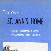 Image of Informational brochure on the newly built St. Ann's Home