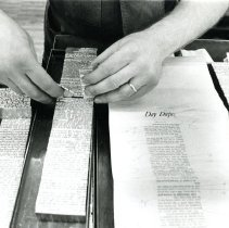 Image of 20th century typesetting at the Hammond Times newspaper