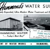 Image of 1960s Hammond Water Department informational booklet
