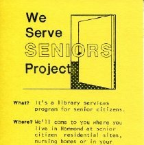 Image of Informational bookmark on the WeSS program offered at HPL