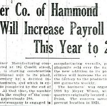 Image of Hammond Times March 23, 1929 article