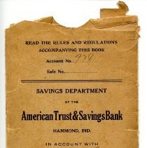 Image of American Trust & Savings Personal Account Book Holder