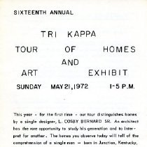 Image of 16th Annual Tri Kappa Tour of Homes Flyer