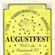 Image of AugustFest 1996 Brochure