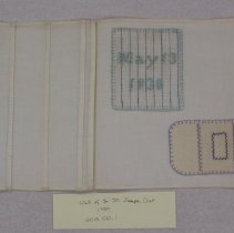 Image of Sampler by student in Sister St. Joseph Class