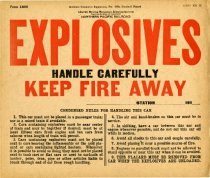 Image of NP Explosives placard