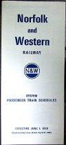 Image of N&W Train Schedule 1969