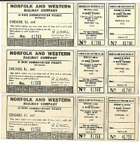 Image of N&W Tickets