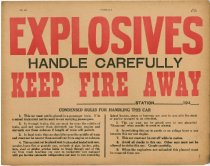 Image of Explosives Caution Placard