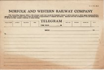 Image of N&W Telegram Blank