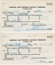 Image of N&W Clearance Card