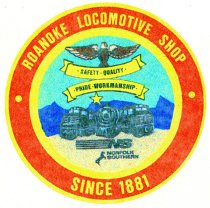 Image of Roanoke Locomotive Shop Decal
