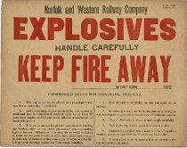 Image of N&W Explosives Placard