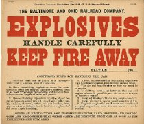 Image of B&O Explosives Placard