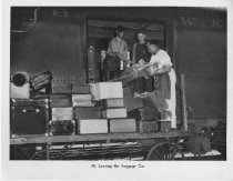 Image of Loading The Baggage Car